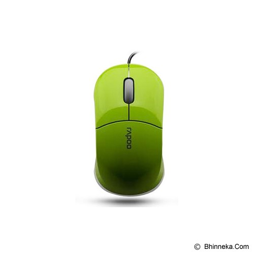 RAPOO Wired Optical Mouse [N6000] - Green - Mouse Basic